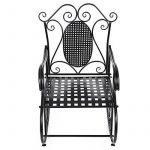 Songmics Feuteuil/Chaise à bascule en fer pour Balcon Jardin Salle GRC101B de la marque image 1 produit