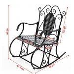 Songmics Feuteuil/Chaise à bascule en fer pour Balcon Jardin Salle GRC101B de la marque image 4 produit