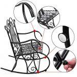 Songmics Feuteuil/Chaise à bascule en fer pour Balcon Jardin Salle GRC101B de la marque image 5 produit