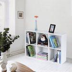 Songmics Meuble de Rangement Bibliothèque Etagère de 6 Casiers Charge maximale de 30kg Blanc LBC203D de la marque image 2 produit