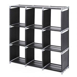 Songmics Meuble de rangement/Etagère/Bibliothèque de 9 cases 105 x 30 x 105 cm (L x l x h) Noir LSN33H de la marque Songmics image 0 produit