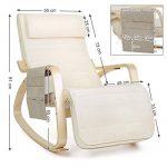 Songmics Rocking Chair Fauteuil à bascule avec Repose-pieds réglable design Charge maximum: 150 kg beige LYY01M de la marque image 6 produit