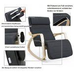 Songmics Rocking Chair Fauteuil Bascule avec Repose-pieds réglable à 5 niveaux design Charge maximum: 150 kg gris LYY10G de la marque image 2 produit