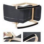 Songmics Rocking Chair Fauteuil Bascule avec Repose-pieds réglable à 5 niveaux design Charge maximum: 150 kg gris LYY10G de la marque image 5 produit