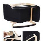Songmics Rocking Chair Fauteuil Bascule avec Repose-pieds réglable à 5 niveaux design Charge maximum: 150 kg noir LYY10B de la marque image 5 produit