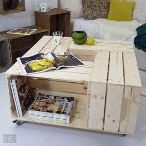 Table basse 4SI - Kit prêt à assembler - caisses en bois (x4) - Fabriquée main en France de la marque Simply a Box image 0 produit