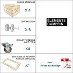 Table basse 4SI - Kit prêt à assembler - caisses en bois (x4) - Fabriquée main en France de la marque Simply a Box image 2 produit