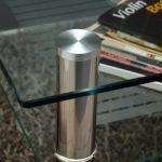 Table basse à plateau en verre 80 x 80 cm-table d'appoint en acier inoxydable et verre de sécurité eSG 10 mm de la marque ts-ideen image 1 produit
