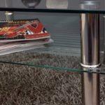 Table basse à plateau en verre 80 x 80 cm-table d'appoint en acier inoxydable et verre de sécurité eSG 10 mm de la marque ts-ideen image 2 produit