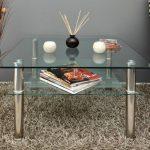 Table basse à plateau en verre 80 x 80 cm-table d'appoint en acier inoxydable et verre de sécurité eSG 10 mm de la marque ts-ideen image 6 produit