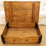 Table basse coffre en bois table d'appoint vintage style shabby chic Bois Massif Noyer de la marque Uncle Joe's image 4 produit