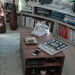 TABLE BASSE en BOIS 2 Compartiments, sur Roulettes, Style Caisse Vintage, Pin Massif Nordique - LIZA – 51 x 83 x 40 cm (Marron Noyer) de la marque LIZA image 2 produit