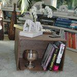 TABLE BASSE en BOIS 2 Compartiments, sur Roulettes, Style Caisse Vintage, Pin Massif Nordique - LIZA – 51 x 83 x 40 cm (Marron Noyer) de la marque LIZA image 5 produit