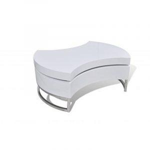 Table basse pivotante en MDF blanche brillante laquée de la marque vidaXL image 0 produit