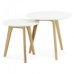 Tables basses design gigognes ART en bois et chêne massif (blanc) de la marque image 0 produit