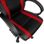 TecTake Chaise de bureau fauteuil siège racing sport tissu - diverses couleurs au choix - (rouge | no. 402159) de la marque image 4 produit