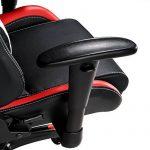 TecTake Chaise fauteuil siège de bureau racing sport ergonomique avec support lombaire et coussin noir rouge blanc de la marque image 6 produit
