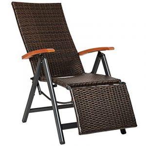 TecTake Fauteuil de relaxation poly rotin longue aluminium chaise de jardin meubles de la marque image 0 produit
