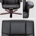 TecTake Fauteuil relax TV pour la détente avec pouf en simili-cuir avec pied en bois - diverses modèles - (Pieds: Bois / laqué brun foncé (No. 401438)) de la marque image 4 produit
