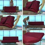 Textilhome - Housse Canapé Clic-Clac TEIDE, Taille 3 Places- 180 a 240 cm. Couleur Noir de la marque image 2 produit