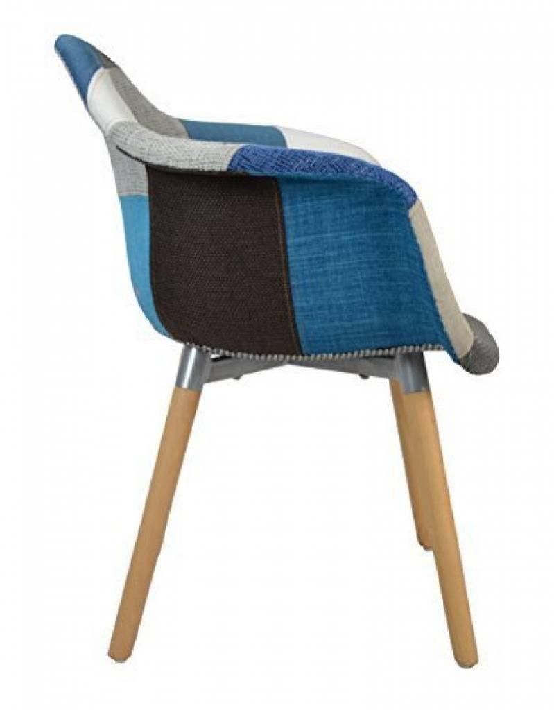Ts Ideen Design Classique Patchwork Fauteuil Retro Annees 50
