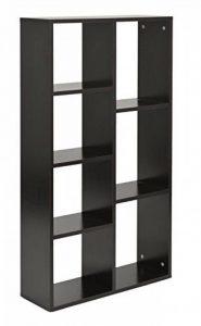 ts-ideen Étagère Design Espace de stockage Bibliothèque Bois CD noir 110 x 60 cm de la marque image 0 produit