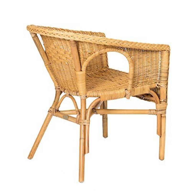 Fauteuil nouveau miel Rotin Chaise Chaise ramasser empilable