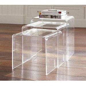 Votre meilleur comparatif : Tables gigognes acrylique TOP 3 image 0 produit