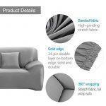 WINOMO Housse de Canapé Salon Couverture Extensible 3 places chaise housses Spandex Décor (Gris) de la marque image 1 produit