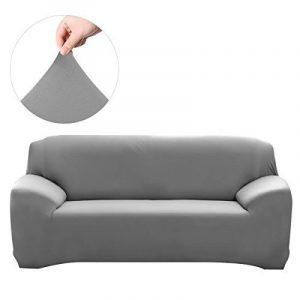 WINOMO Housse de Canapé Salon Couverture Extensible 3 places chaise housses Spandex Décor (Gris) de la marque WINOMO image 0 produit