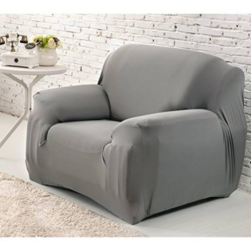 Gris WINOMO Housse de fauteuil Canap/é en Polyester Extensible D/écor Salon Antipoussi/ère Couvertures et Protecteur de Sofa
