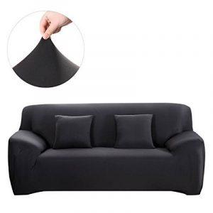 WINOMO Housses de Canapé salon Mobilier Protecteur 2pcs Taie d'oreiller élastique Noir - Taille L 195 x 230 cm de la marque WINOMO image 0 produit