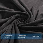WINOMO Housses de Canapé salon Mobilier Protecteur 2pcs Taie d'oreiller élastique Noir - Taille L 195 x 230 cm de la marque WINOMO image 2 produit