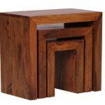Wohnling WL1.205 Sheesham Lot de 3 tables gigognes en bois de la marque image 4 produit