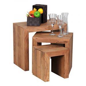 Wohnling wl1.440Ensemble de 3tables gigognes Tables d'appoint en bois d'acacia massif de la marque image 0 produit