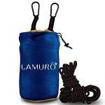 XL Parachutes Hamac Camping Portable dans un sac utilisé pour la randonnée, les voyages, ½ tonne de très grande capacité(320 x 200 cm), léger, séchage rapide lit double 2 personnes sangles d'arbres hamac, mousquetons, ancres et corde de la marque image 1 produit