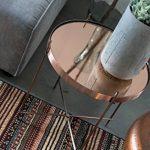 Zuiver 2300038 Cupid Table Basse Verre Cuivre 43 x 43 x 45 cm Taille M de la marque image 5 produit